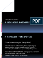 Xxx a Mensagem Fotografica o Obvio e o Obtuso