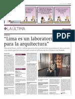 ¿Sabías que Lima es un laboratorio ideal para la arquitectura?