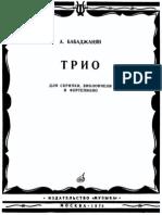 Babadzhanian, Arno - Trio Violin, Cello & Piano (1952) Score