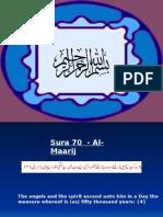 Sura 70 - AlMaarij