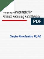 Nursing Care in Radiotherapy