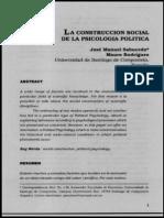 La construcción social de la psicología política - Sabucedo & Casal - 2000