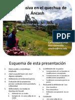 La Voz Pasiva en El Quechua de Ancash (No Es Voz Pasiva)