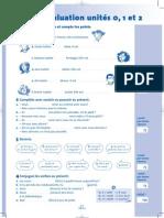 Auto-évaluation unités 0, 1 et 2   'MAG  2