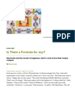 Is There a Formula for Joy - By Richard Corliss