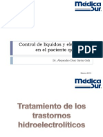 Control de líquidos y electrólitos en el paciente