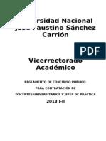 REGLAMENTO DE CONCURSO PÚBLICO PARA CONTRATACIÓN DE DOCENTES Y JEFES DE PRÁCTICAS