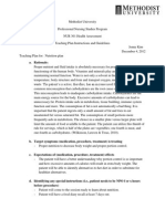 teaching plan outline with references