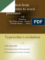 Typewriter to Wordprocessor 1