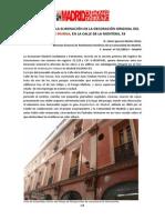 DENUNCIA SOBRE LA ELIMINACIÓN DE LA DECORACIÓN ORIGINAL DEL PASAJE DE MURGA, EN LA CALLE DE LA MONTERA, 33