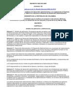 DECRETO 3622 de 2005 Sistema de Desarrollo Admi
