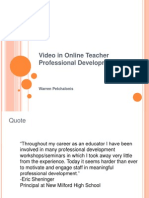 video in online teacher professional development2