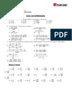 Guía de ejercicios (números decimales)