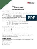Guía de ejercicios (números enteros)
