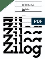 Z8 MCU Test Mode Jun82