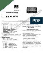 14050 Philips B2AL17-U Receptor Valvular OC-OL Ambas Corrientes 1958 Manual de Servicio