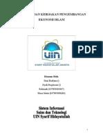 Strategi Dan Kebijakan Pengembangan Ekonomi Islam Di Indonesia