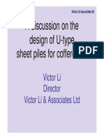 A Discussion on U-Type Sheetpiles