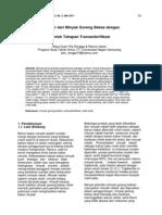 Sintesis Metil Ester Dari Minyak Goreng Bekas Dengan Pembeda Jumlah Tahapan Transesterifikasi