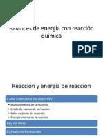 Balances de energía con reacción química