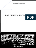 Las Lenguas Romances Rebeca Posner