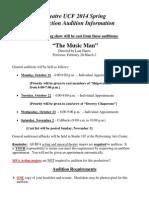 Spring 2014 Audition Information