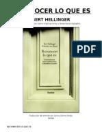 Reconocer Lo Que Es - Bert Hellinger