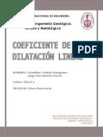 Coeficiente de Dilatacion Lineal
