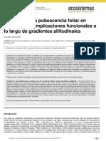 Variación de la pubescencia foliar en