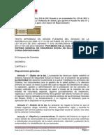 Texto Del Proyecto de Ley 210 de 2013 Senado y Sus Acumulados Aprobado en El Senado en Octubre 18 de 2013