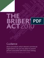 Bribery Act 2010 Guidance