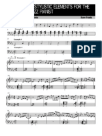 15 Stylistic Elements for the Advanced Jazz Pianist - Partitura Completa