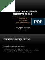 Informe Rep. Est. Consejo Superior. Univalle
