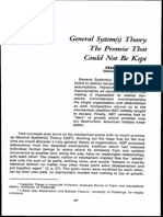 General Systems Theory - The Promise That Could Not Be Kept