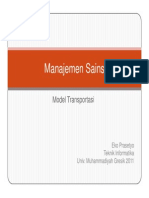 Ms2011 Modul 5 Model Transportasi Ppt