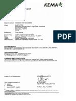 10kv Kema Test Report