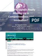 Is the Philippines Really Moving Up in Competitiveness and Innovation by Dr Fabian Dayrit