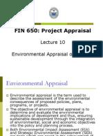 Fin650 Lectures 10 Environmental Appraisal