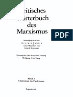 135439872 Labica G Bensussan G Haugh W F Hrsg Kritisches Worterbuch Des Marxismus Band 2 Casarismus Bis Funktionar 1984