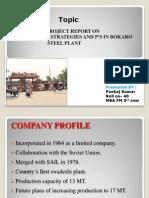 4P's of Bokaro Steel