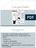 what you wear talks ppt