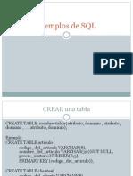 Ejemplos de SQL