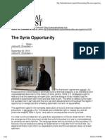 Syria Opportunity