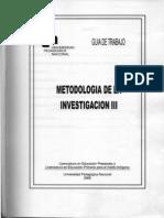 Metodologia de La Investigacion III