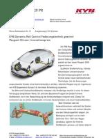 KYB Dynamic Roll Control Federungstechnik gewinnt Peugeot Citroen Innovationspreis