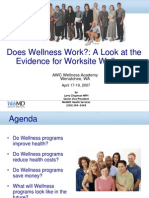 Do Wellness Programs Work - Chapman 2007