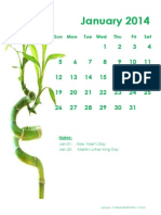 2014 Monthly Calendar Portrait 11