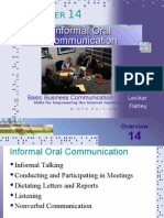 Informal Oral Communication
