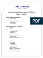 ANSYS Advanced Contact Analysis Curriculum
