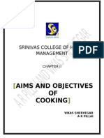 Aim and Objective of Cooking Food